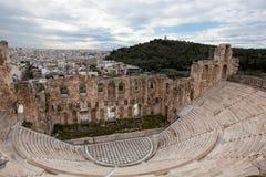 Odeon (teatro) del Atticus di Herodes Fotografie Stock Libere da Diritti