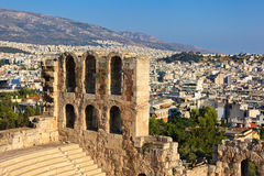 Odeon theater in Acropolis. Athens, Greece Stock Images