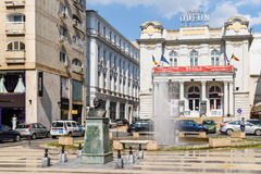 The Odeon Theater. BUCHAREST, ROMANIA - MAY 11, 2016: The Odeon Theater is one of the best-known performing arts venues in Bucharest, and was built in 1911 Royalty Free Stock Images