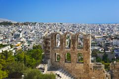 The Odeon theatre at Athens, Greece Royalty Free Stock Images