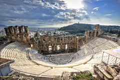 Odeon Theatre in Athens, Greece Royalty Free Stock Images