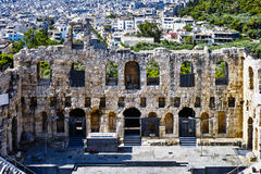 The Odeon theatre at Athens Stock Photography