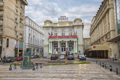 Odeon Theatre w Bucharest, Rumunia Fotografia Royalty Free