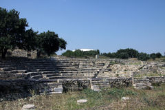 The Odeon of Troy. Troy is the setting of the Trojan War described in the Greek Epic Cycle and especially in the Iliad, one of the two epic poems attributed to Stock Photo