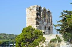 Odeon van Herodes Atticus in Akropolis in Athene, Griekenland op 16 Juni, 2017 Royalty-vrije Stock Foto
