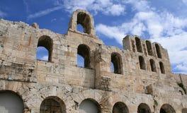 Odeon van het theater van Herodes Atticus in Athene stock fotografie