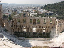 Odeon von Herodes Atticus stockfotografie