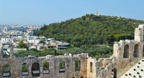 Odeon von Herodes-Atticus in der Akropolise in Athen, Griechenland am 16. Juni 2017 Lizenzfreie Stockbilder