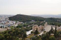 Odeon von Herodes-Atticus der Akropolises in Athen, Griechenland Lizenzfreies Stockfoto