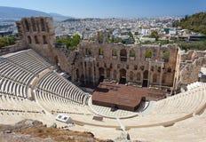 Odeonen av den Herodes atticusen, Athens Arkivfoton