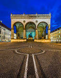 Odeonplatz and Feldherrnhalle in the Evening Royalty Free Stock Photography