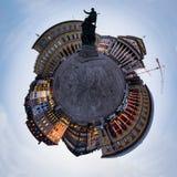 Odeonsplatz户外慕尼黑一点行星摘要 图库摄影