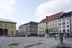 Odeonsplatz with beautiful building around Royalty Free Stock Image