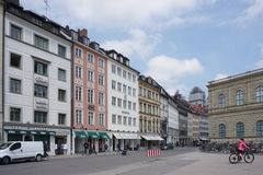Odeonsplatz with beautiful building around Stock Photography