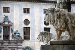 Odeonsplatz - Feldherrnhalle in Munich Germany Royalty Free Stock Images