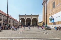 Odeonsplatz in München, Bayern, Deutschland Stockfotos
