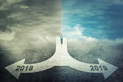 2018 oder 2019 lizenzfreie stockbilder