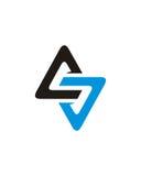 A oder ALS Dreieckinitialenzusammenfassungs-Betriebsversicherungszusammenfassung lizenzfreie abbildung