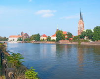 The Oder embankment Stock Images