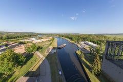 Oder--Havelkanal Niederfinow stockbilder