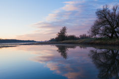 Oder River at dawn Stock Photography