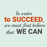 Motivational quote stock illustration