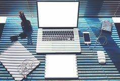Мodern freelance workspace Stock Photo
