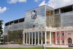 Odesa,乌克兰- 2016年5月15日:切尔诺莫雷茨橄榄球俱乐部体育场前面  免版税图库摄影