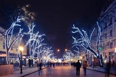 Odesa, de Oekraïne - Januari, 7, 2018: Kerstmis en Nieuwjaardecor royalty-vrije stock foto's