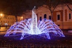 Odesa, Ucrania - enero, 7, 2018: Decoración de la Navidad y del Año Nuevo Fotos de archivo