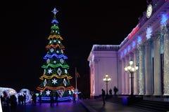 Odesa, Ucrania - enero, 7, 2018: Decoración de la Navidad y del Año Nuevo Imágenes de archivo libres de regalías