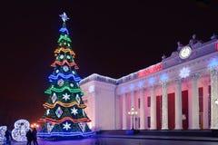 Odesa, Ucrania - enero, 7, 2018: Decoración de la Navidad y del Año Nuevo Foto de archivo libre de regalías