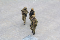 Odesa, UKRAINE - MARCH, 26, 2015: Soldiers  in Stock Photography