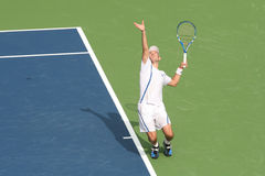 Odesnik: Pro Tennis Player Serve Royalty Free Stock Photos