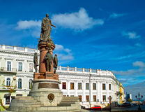 Odessa. Statue of Catherine the Great in the ukrainian city Odessa Stock Photos