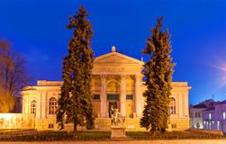 Odessa Archeological Museum at night Stock Photos