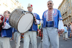Odessa August 24: Men in traditional costumes at the festival na Stock Photo