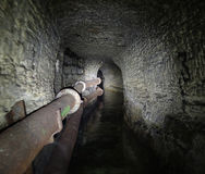 The Odessa catacombs pipe bomb shelters Stock Photos