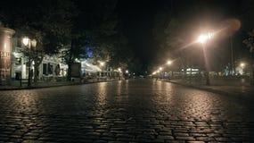 City of Odessa, night walk royalty free stock photo