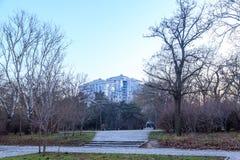 Odessa city from tarasa shevchenka park during winter in Odessa. Ukraine royalty free stock photo