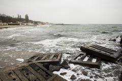 Odessa czerni morze Fotografia Royalty Free