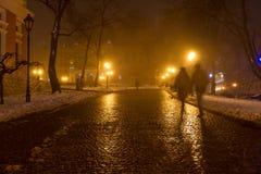 Odessa dans le brouillard Noël Photographie stock