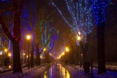 Odessa dans le brouillard Noël Image libre de droits