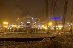 Odessa in de mist Kerstmis royalty-vrije stock afbeelding