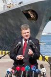 Odessa, de Oekraïne - 10 April, 2015: De President van de Oekraïne Petro Royalty-vrije Stock Afbeelding
