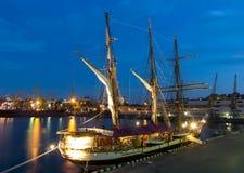 Odessa, de Oekraïne 16 Augustus, de Italiaanse Marineschip van 2016, Palinuro in de haven Royalty-vrije Stock Afbeeldingen