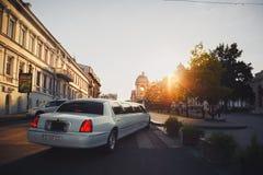 ODESSA, DE OEKRAÏNE - MEI 30, 2015: De stadscentrum van Odessa en vervoer, één van de meest bezochte en beroemde plaats, het Oper Royalty-vrije Stock Afbeeldingen