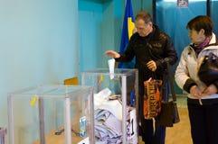 Odessa, de Oekraïne - 25 Oktober 2015: plaats voor mensen van stemming vo Stock Afbeelding