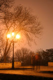 Odessa_fog01. Street lamp in a fog royalty free stock photo