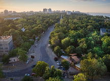 Odessa French Boulevard. View from the top of 2016 Royalty Free Stock Photography